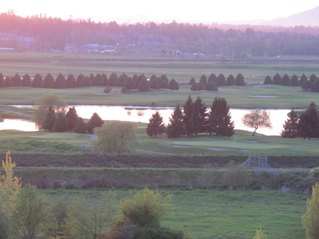Sunset over Northview GCC Surrey, British Columbia Canada