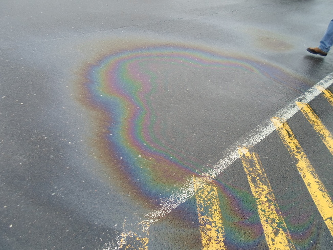 Rainbow tired/on ground/not in sky Elliot Lake, Ontario Canada