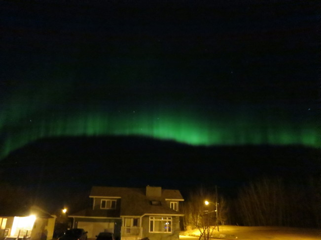 northern lights Flin Flon, Manitoba Canada