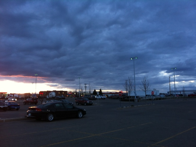 cloudy sunset Brandon, Manitoba Canada