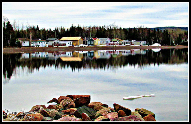 """Calm Morning at The Pond"" Springdale, Newfoundland and Labrador Canada"