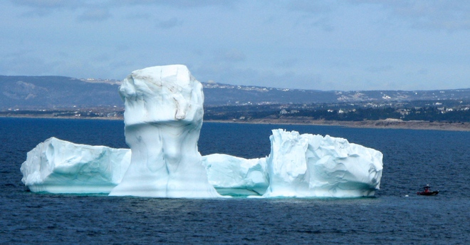 Iceberg in the bay Conception Bay South, Newfoundland and Labrador Canada