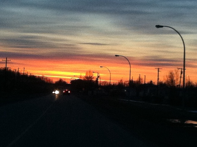 sunset Thompson, Manitoba Canada