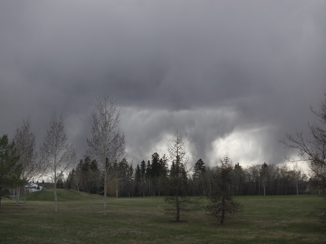 First Dark Rain Cloud in Edmonton 2014 Edmonton, Alberta Canada