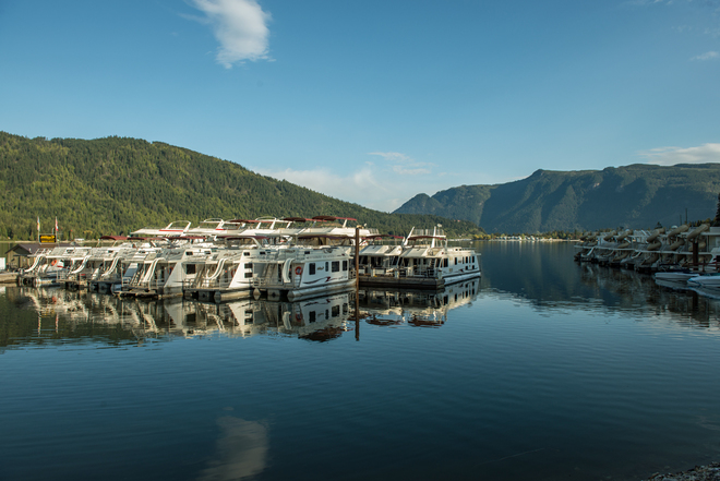 Gorgeous morning Waterway Houseboats Sicamous, British Columbia Canada