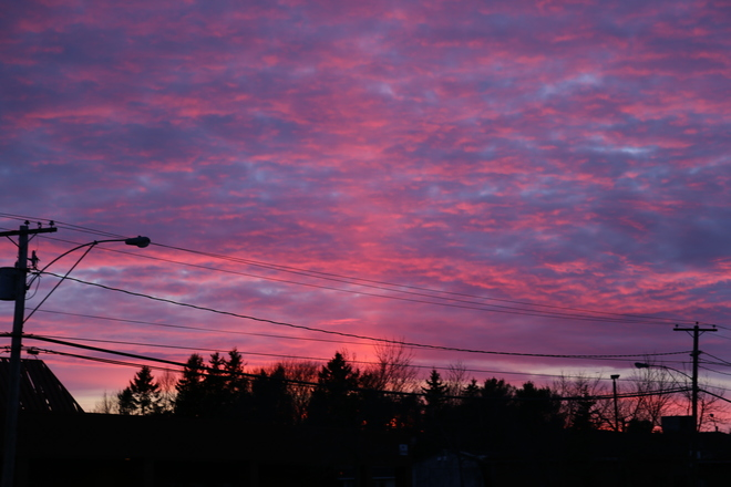 red skys Richibucto, New Brunswick Canada