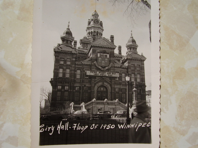 1950 Flood..City Hall Winnipeg, Manitoba Canada