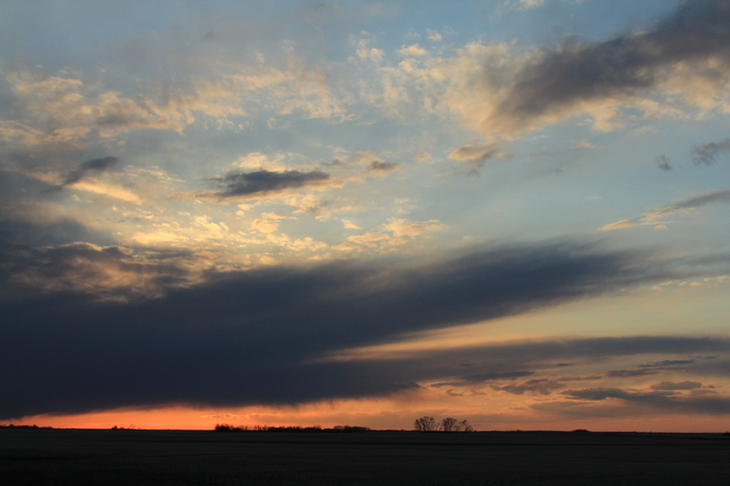 Evening Clouds Dalmeny, Saskatchewan Canada