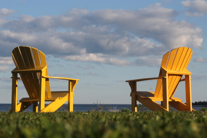 Two Chairs at White Point-Priceless Liverpool, Nova Scotia Canada