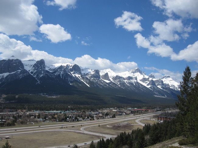Rundle Range on Mother's Day Canmore, Alberta Canada