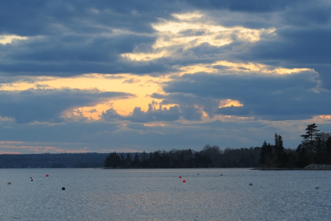 Sunset, Chester Back Harbour, Nova Scotia Chester, Nova Scotia Canada