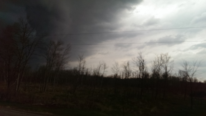 Tornado or Funnel Cloud Belwood, Ontario Canada