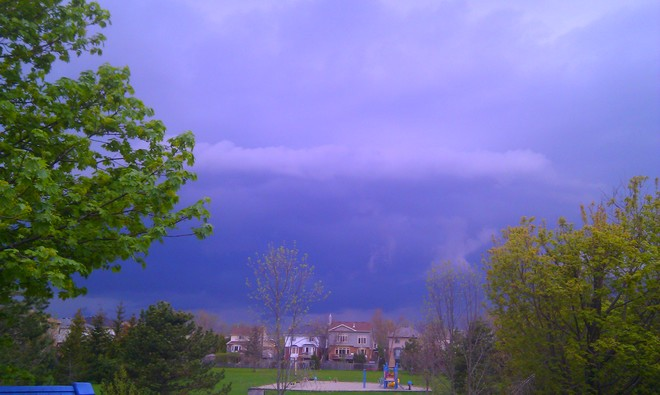May 13th storm Waterdown, Ontario Canada