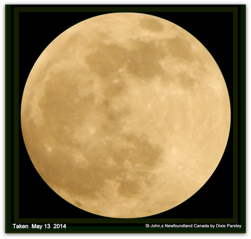 Full Golen moon St. John's, Newfoundland and Labrador Canada