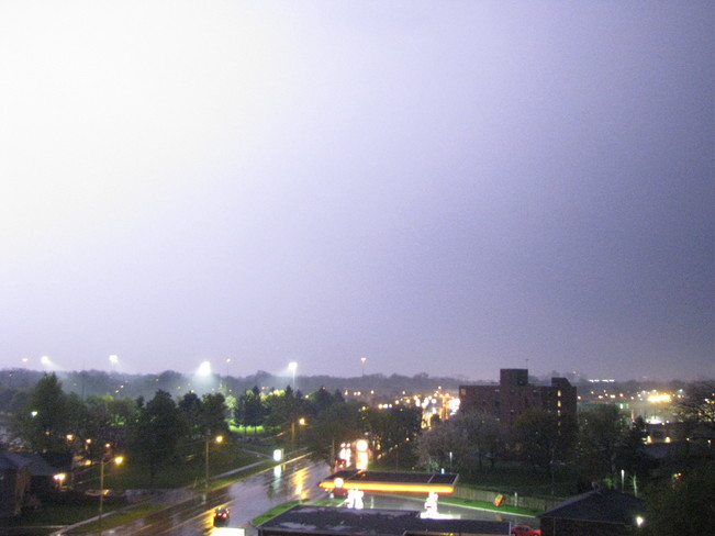 the lightening strike St. Catharines, Ontario Canada