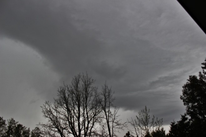 rain core/shelf cloud Seaforth, Ontario Canada