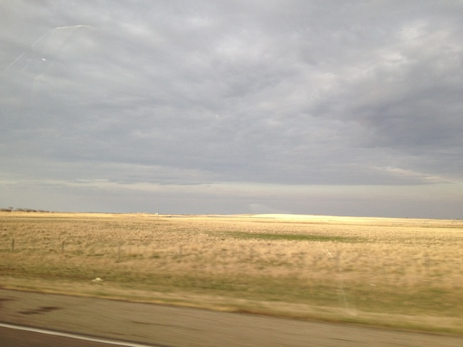 a little cloudy on the way to S Dundurn No. 314, Saskatchewan Canada