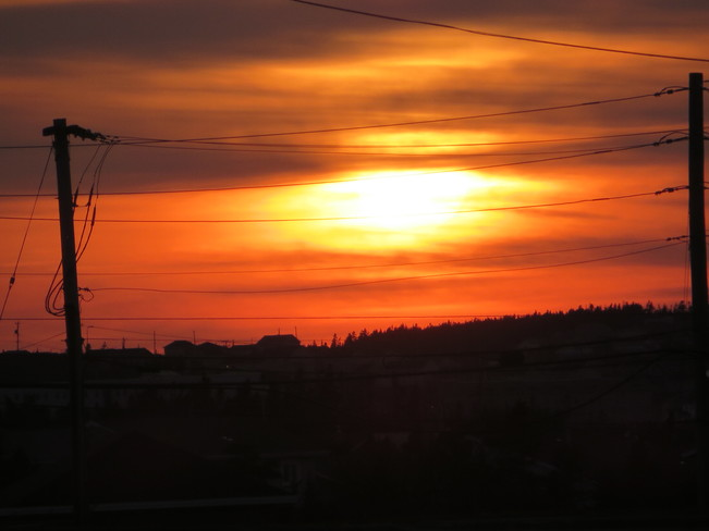 A rosie sunset Mount Pearl, Newfoundland and Labrador Canada