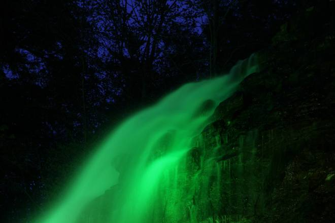 Tiffany Falls illumination Tiffany Falls, Hamilton, ON