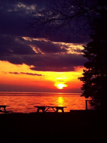 sunset in north bay North Bay, Ontario Canada
