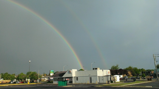 Full Double rainbow Glengarry Boulevard, Cornwall, ON K6H, Canada