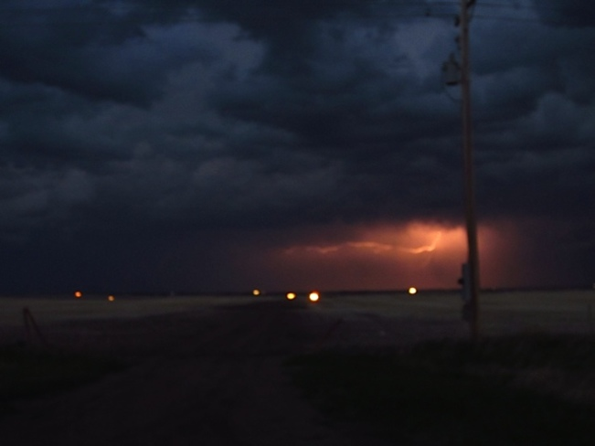 light show Kerrobert, SK