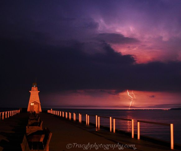 Lightning strike Port Dover, ON