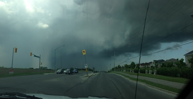 Driving into it Markham, Ontario Canada
