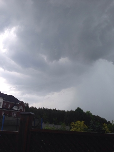 nice wall cloud over my house Brooklin, Ontario Canada