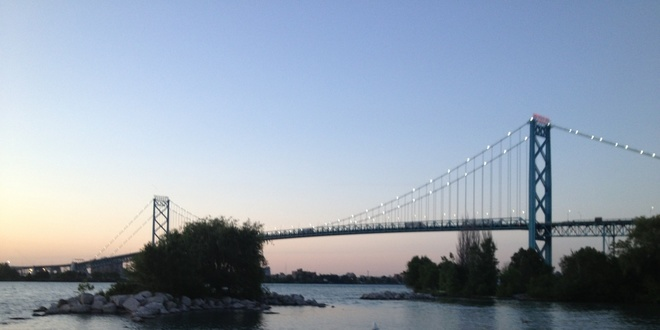 The Bridge At Dusk Windsor, Ontario Canada