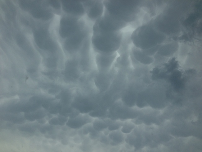 mammatus clouds Alliston, Ontario Canada