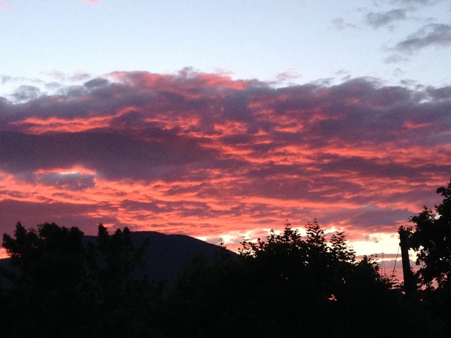 sunset Salmon Arm, British Columbia Canada