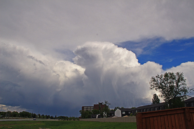 Thunderclouds roll in over Winnipeg this afternoon, Winnipeg, MB