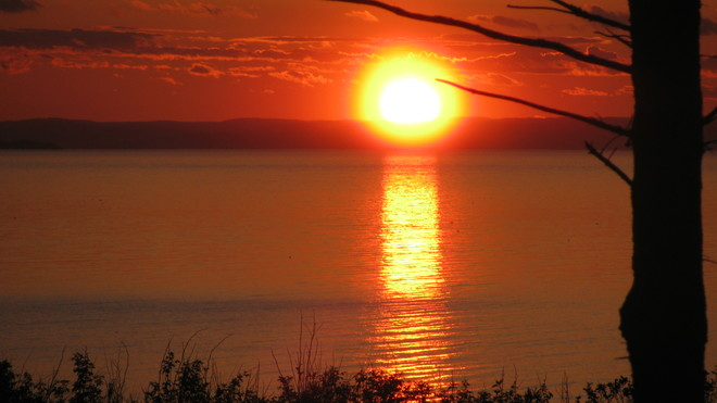 Sunset over Bay of Chaleur, Belledune, New Brunswick Belledune, NB