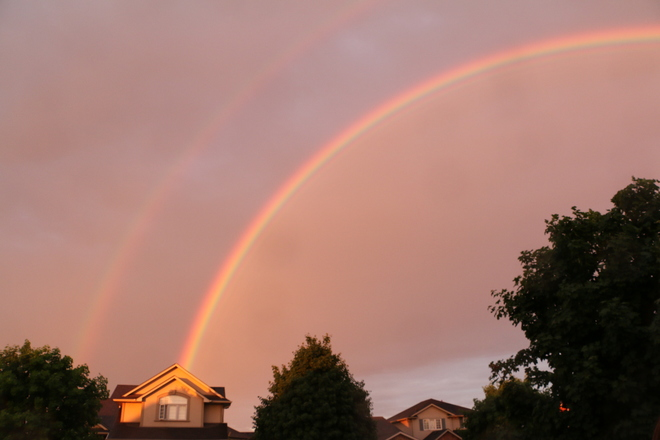 Double Rainbow Caledonia, Haldimand, ON