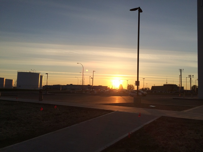 Thursday Morning Sunrise Leduc, Alberta Canada