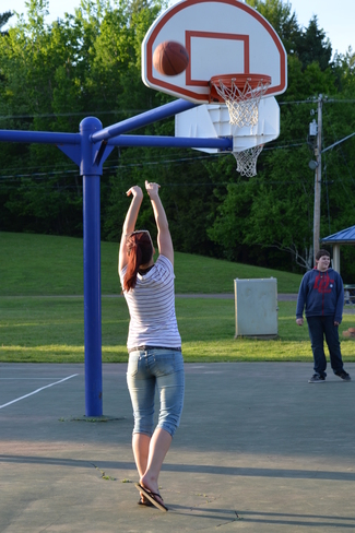 Shooting Hoops. Moncton, NB