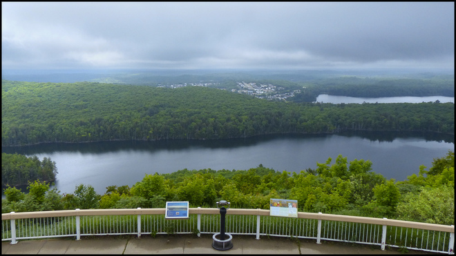 Overcast day at the Fire Tower Lookout.