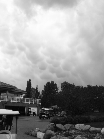 mammatus over the golf course Red Deer, Alberta Canada