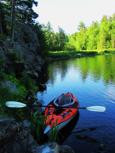 Paddling on the Marshland River Elliot Lake, ON