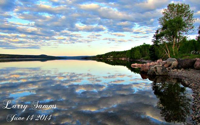 """Calm On The Pond"" Springdale, Newfoundland and Labrador"