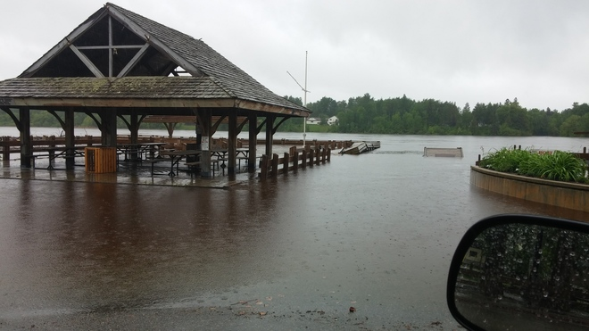 Flooding of the Rainy River in Rainy River, Ontario Rainy River, ON