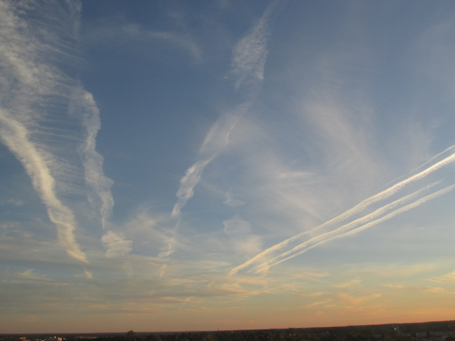 Tonight's skies over Moncton New Brunswick.. earlier skies then Sunset Skies. Moncton, NB