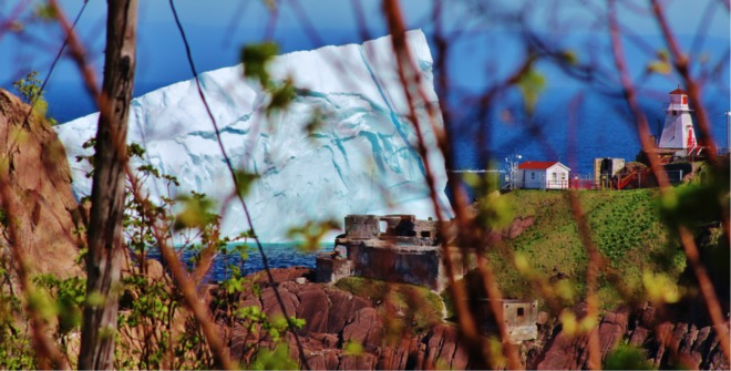 Close up of Berg St. John's, NL