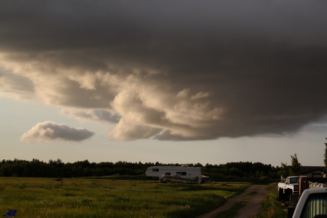 storm clouds Unity, SK