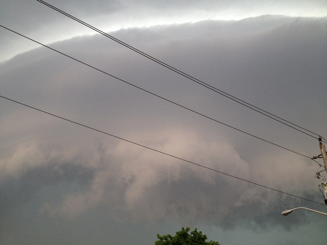 storm rolling in Chatham, Ontario Canada