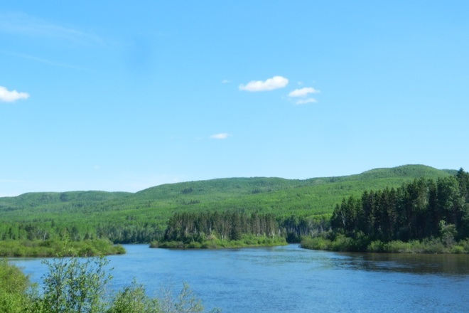 Beautiful Clearwater River Fort McMurray, Alberta Canada