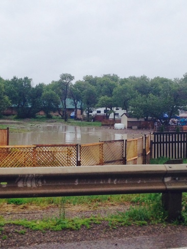 flood 2014 Stand Off, Alberta Canada