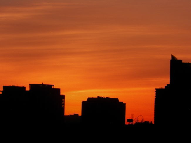 Sunset, City and a Roller Coaster North York, Toronto, ON