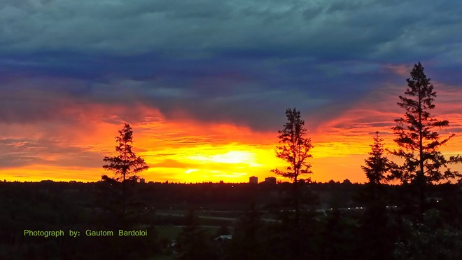 Fabulous Sunset! 62 Avenue Northwest, Edmonton, AB T6H, Canada